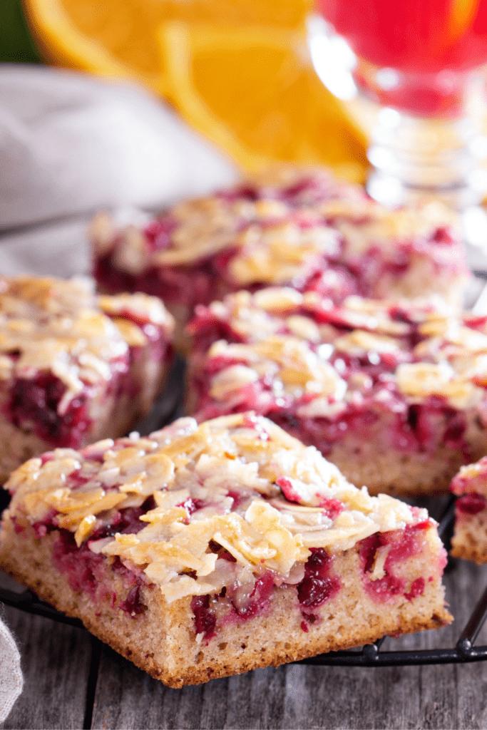 Cranberry Almond Cake Bar