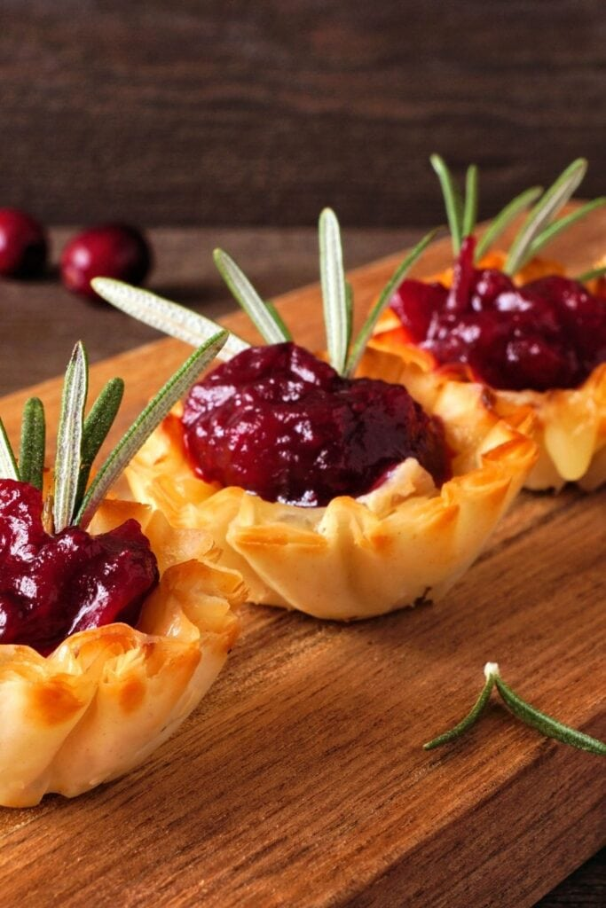 Cranberry Brie Phyllo Cup Appetizers