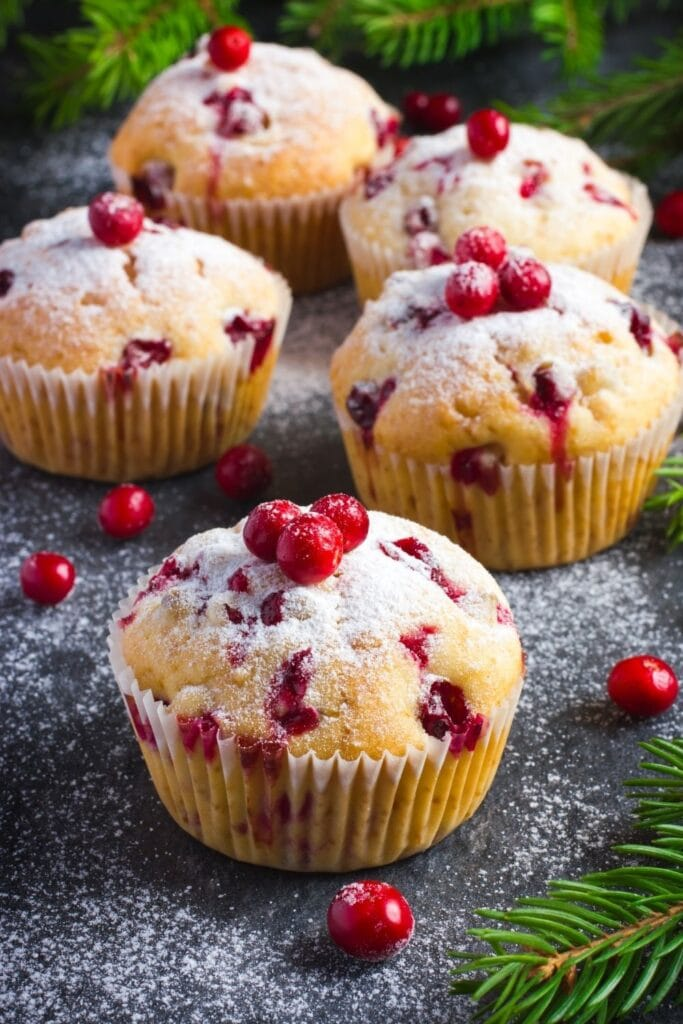 Cranberry Muffins with Fresh Cranberries