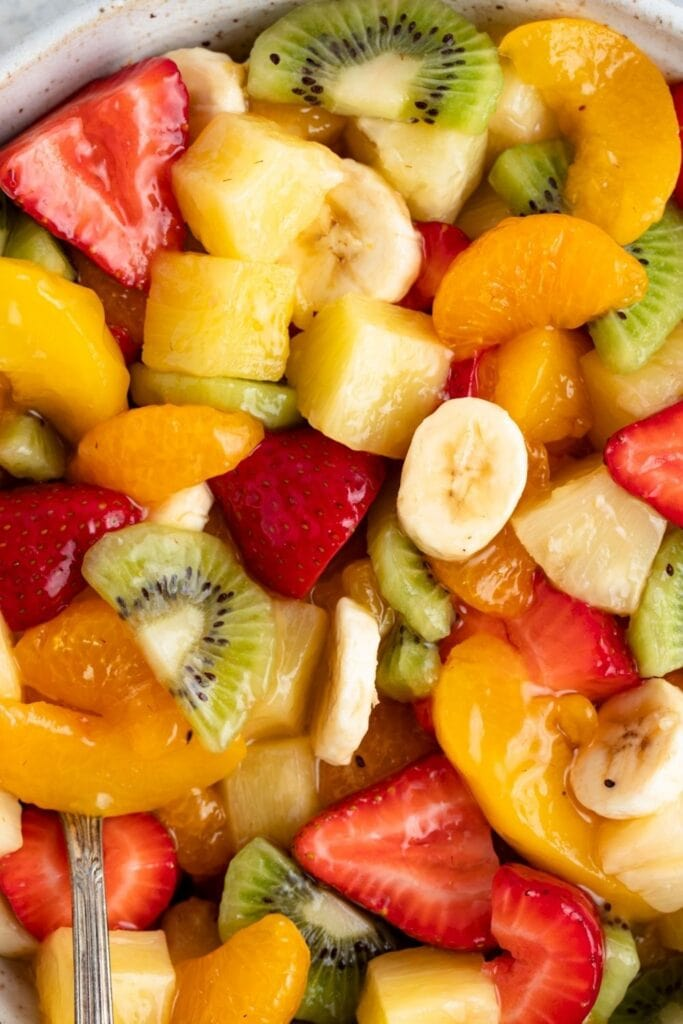 Glazed Summer Fruit Salad with Peach Pie Filling