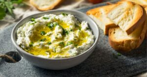 Goat Cheese Dip in a Bowl