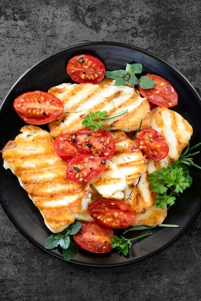 Grilled Halloumi Cheese with Sun Dried Tomatoes