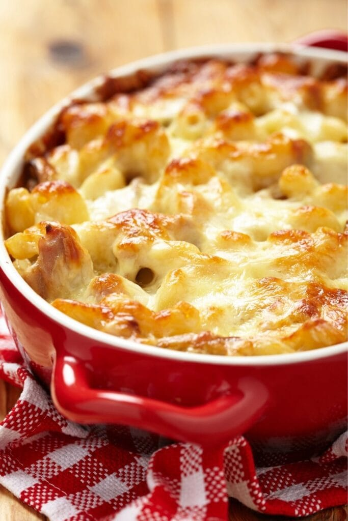 Hamburger Casserole with Cheese, Ground Beef and Pasta
