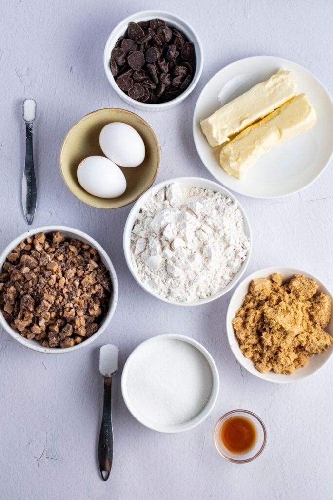 Ingredients in Heath Bar Cookies