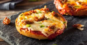 Homemade Cheesy Oven Toasted Pizza Bagels