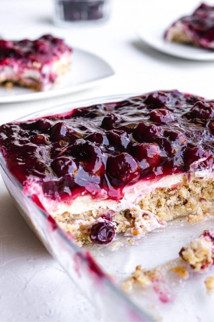 Homemade Cherry Yum Yum Cake with Cherry Pie Filling