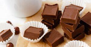 Homemade Chocolate Fudge with Nuts