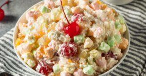 Homemade Colorful Ambrosia Fruit Salad