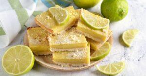 Homemade Lime Bars with Fresh Lime