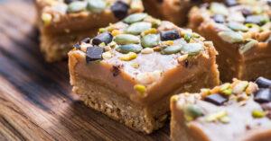 Homemade Pistachio and Nut Squares