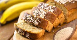 Homemade Sliced Banana Oat Bread