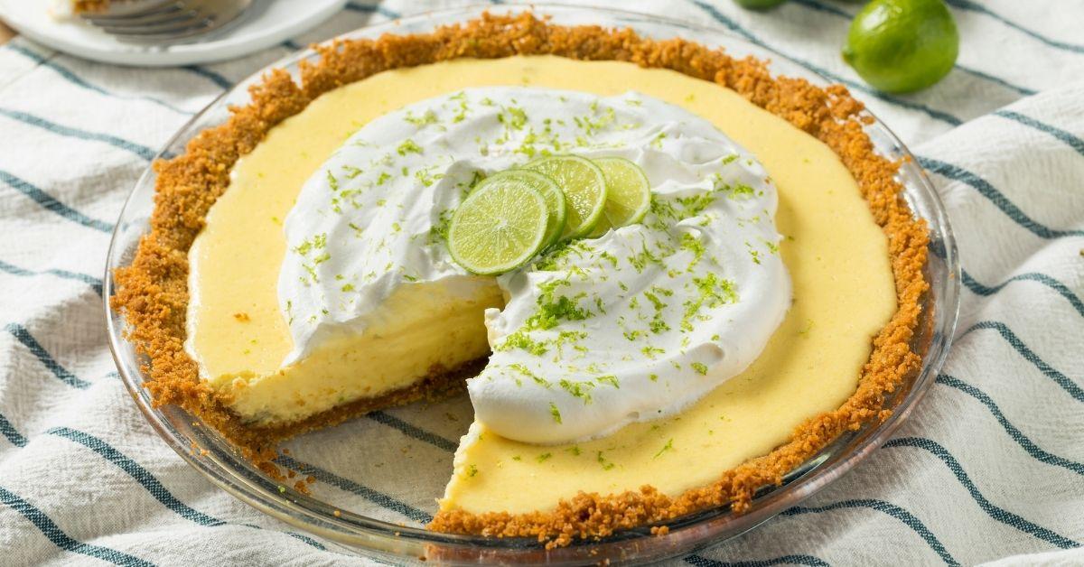 Homemade Sliced Key Lime Pie