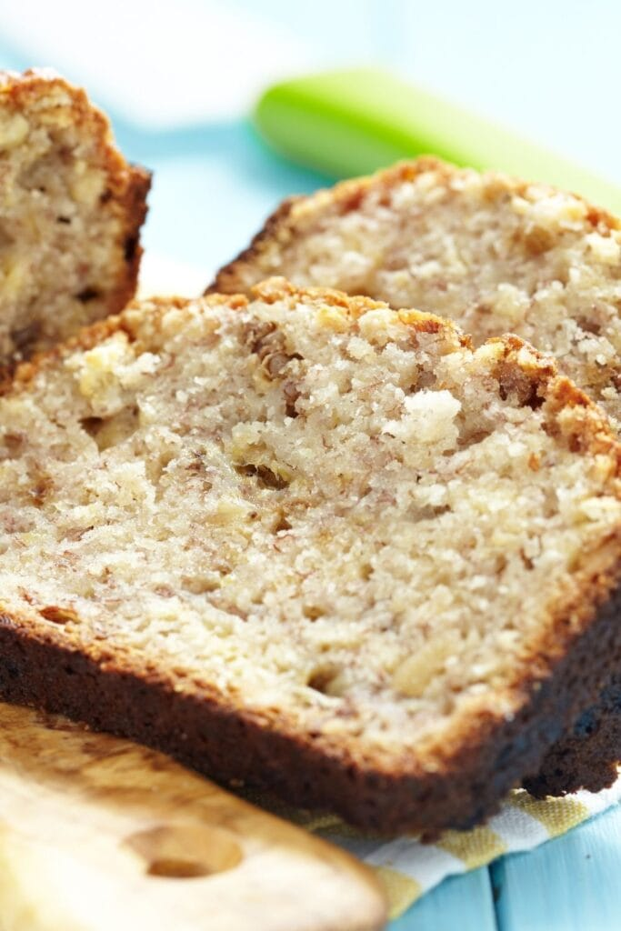 Homemade Slices of Cake Mix of Banana Bread