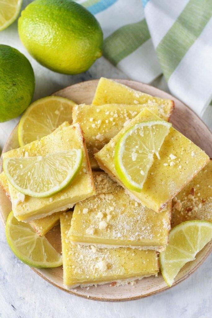 Lime Bars with Fresh Lime