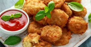 Mac and Cheese Bites with Ketchup