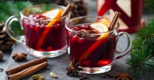 Mulled Red Wine with Lemons and Spices