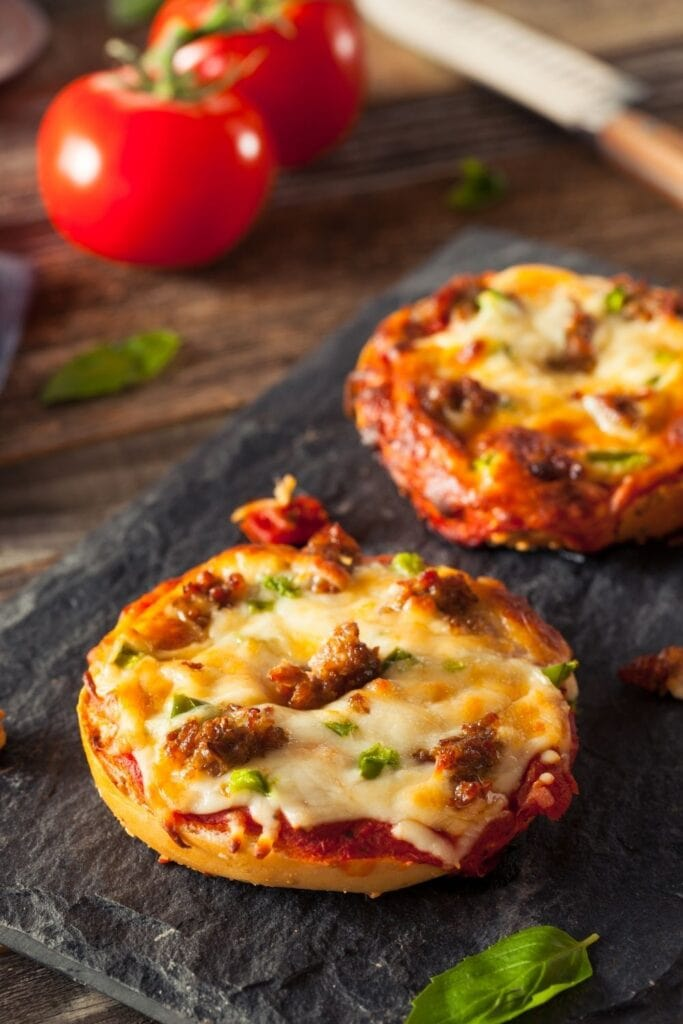 Oven Toasted Pizza Bagels