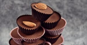 Sweet Chocolate Fat Bombs with Almonds