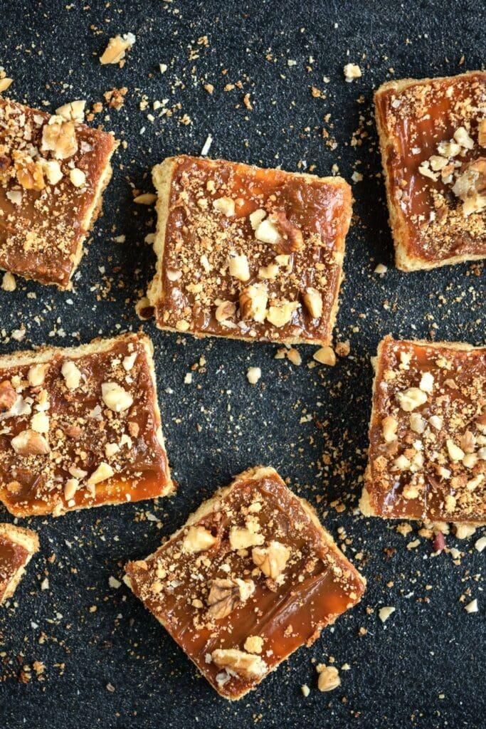Sweet Shortbread Toffee Bars