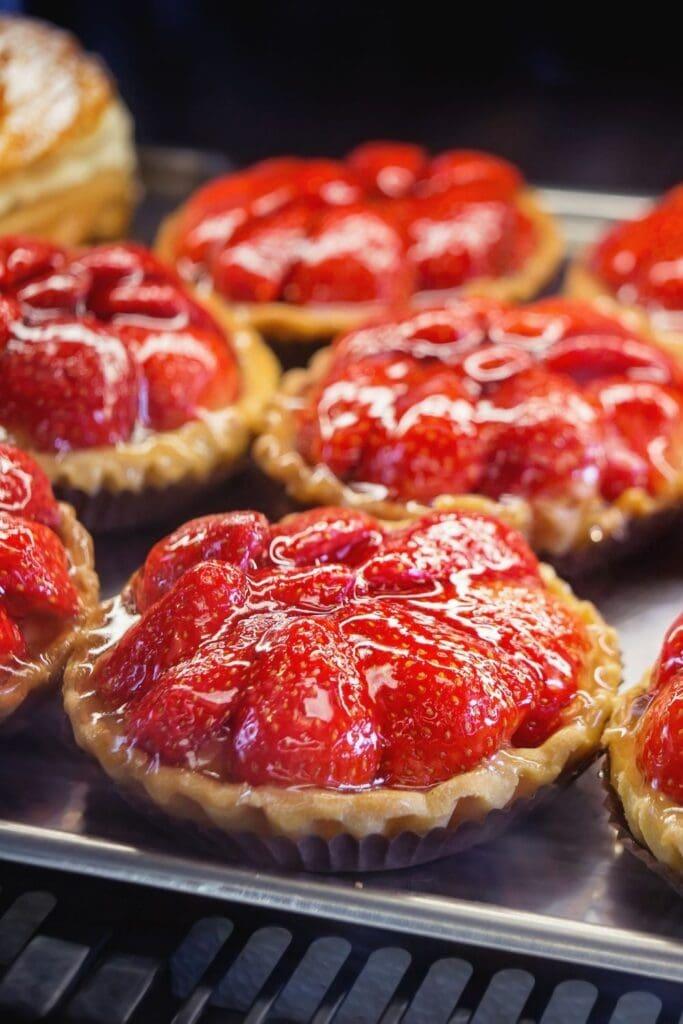 Sweet Strawberry Tart on a Baking Tray