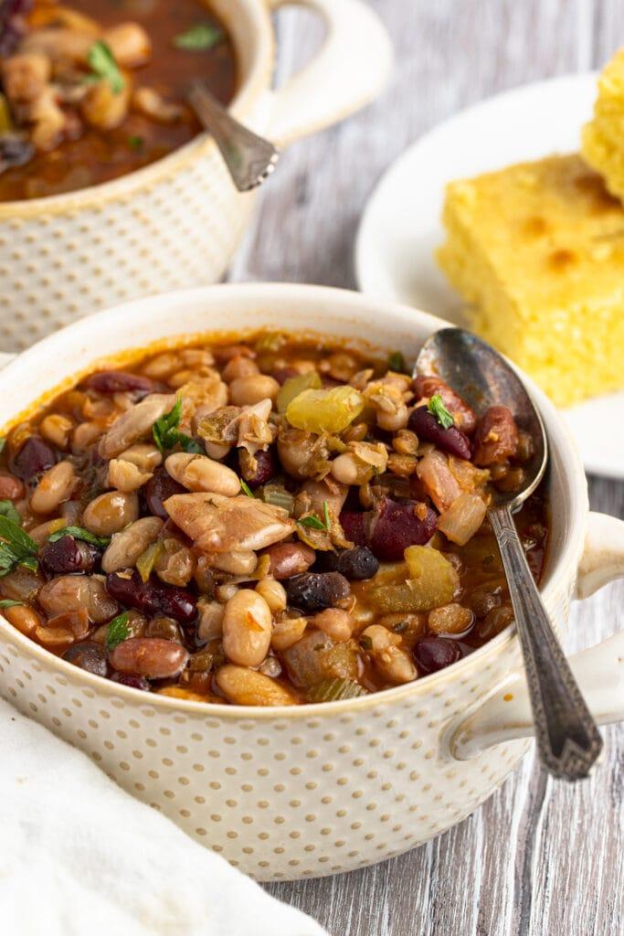 15 bean soup and cornbread