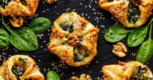 Appetizing Puff Pastry Stuffed Spinach