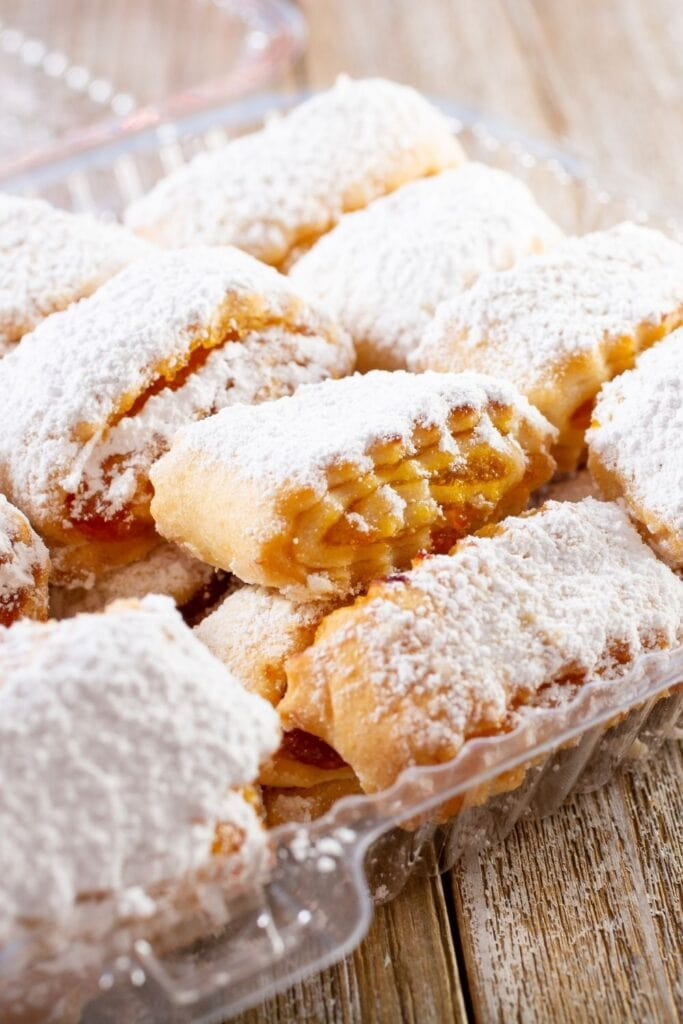 Apricot Pastry with Powdered Sugar