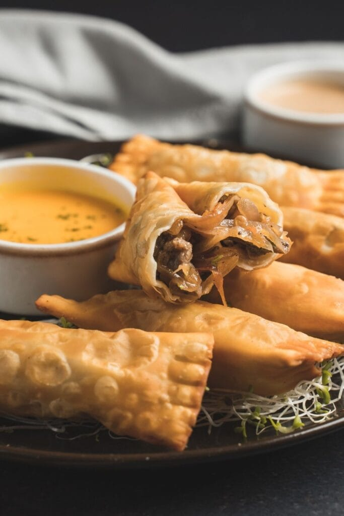 Beef Tequeños with Dipping Sauce