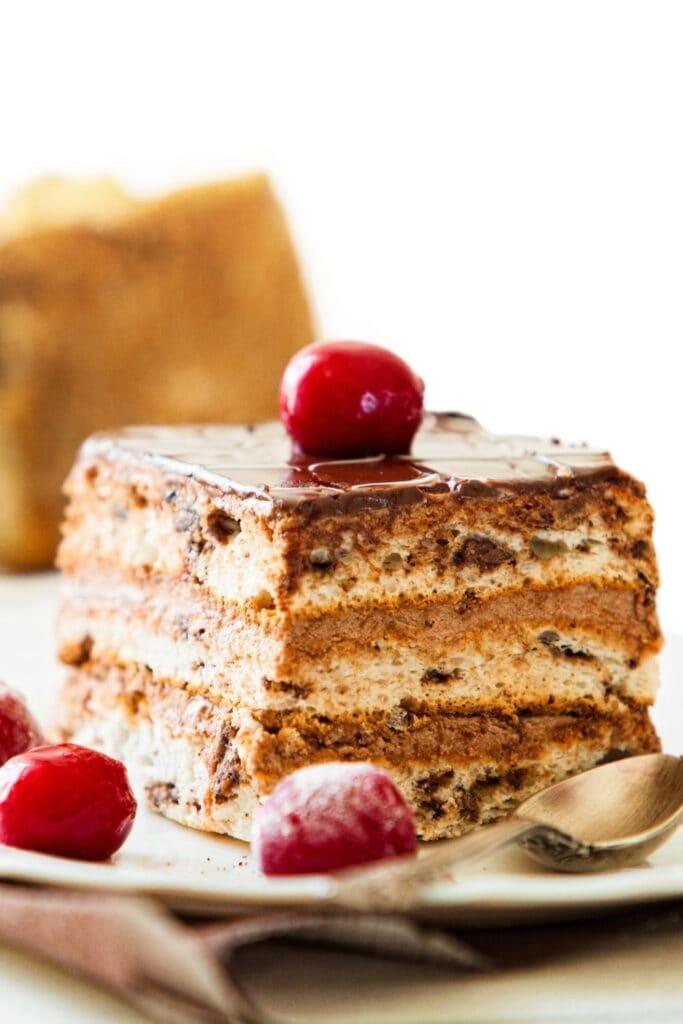 Chocolate Cake with Frozen Wine Cherry