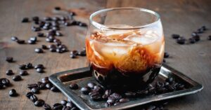Cold Coffee Cocktail with Cream