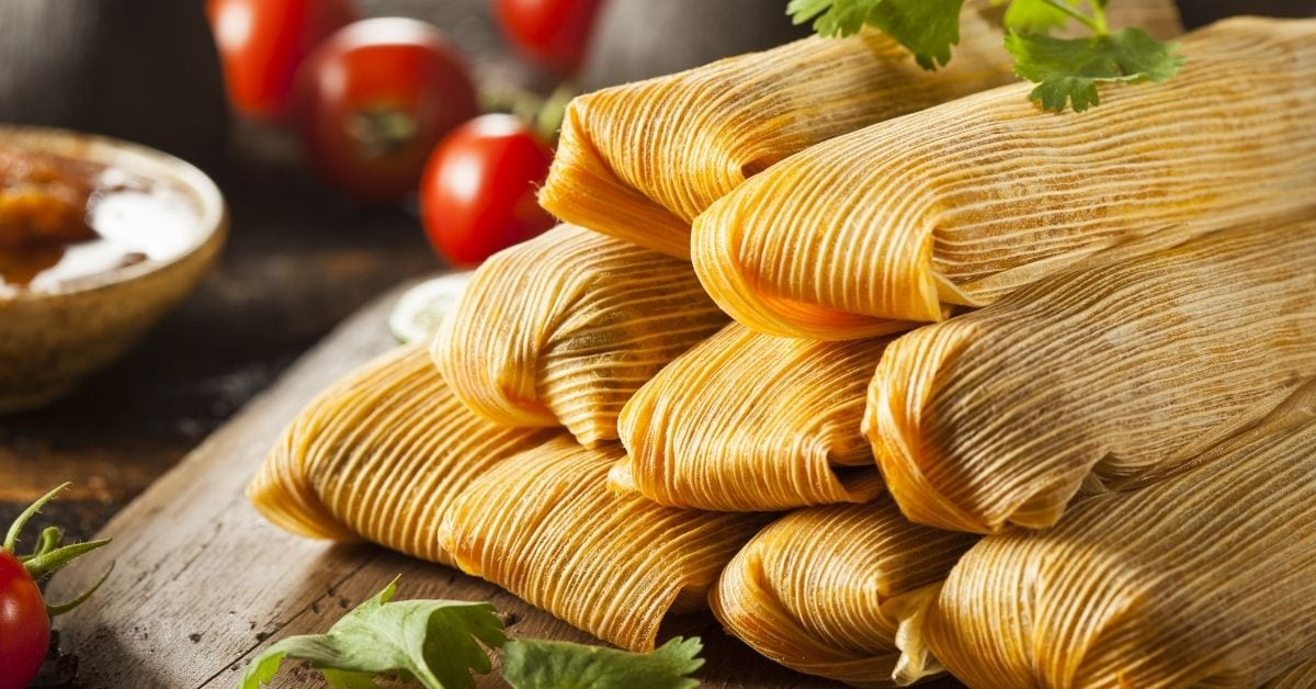 Corn and Chicken Tamales