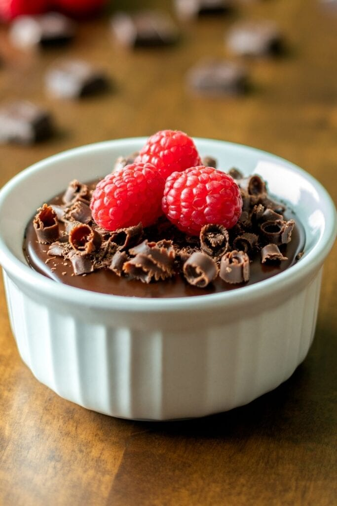 Decadent Chocolate Mousse Cake in a Small Container