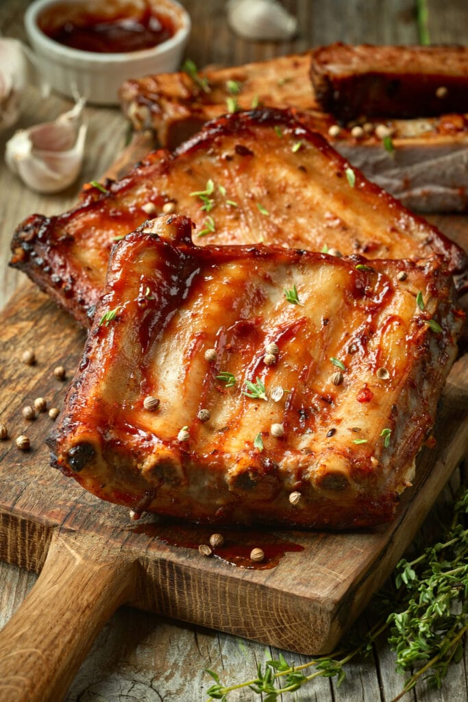 Grilled Pork Ribs with Herbs