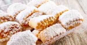 Homemade Armenian Gata Pastry with Powdered Sugar