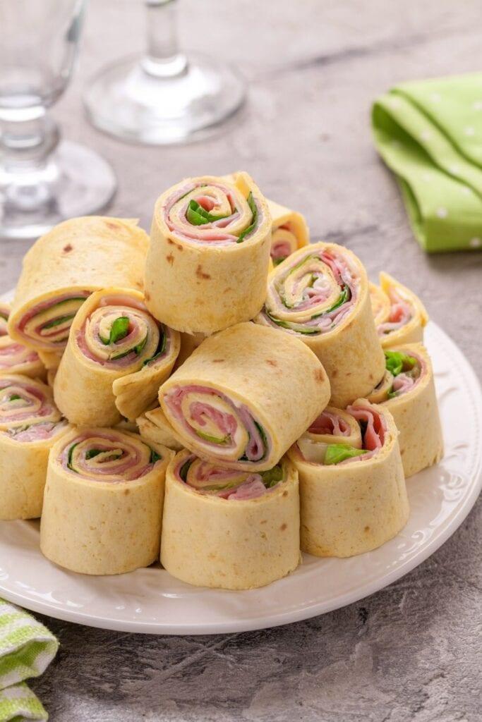 Homemade Ham and Cheese Pinwheels