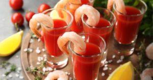 Homemade Prawn Cocktails with Salt and Lemons