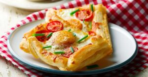 Homemade Puff Pastry Breakfast Pizza with Egg