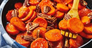 Homemade Sweet Candied Yams with Pecan Nuts