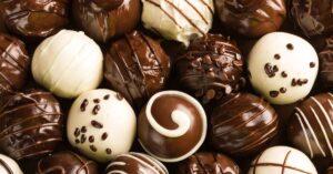 Homemade Sweet Chocolate Candy Truffles