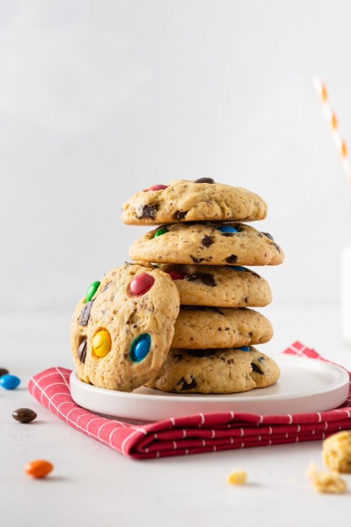 Homemade Sweet Cookies with Colorful Candies