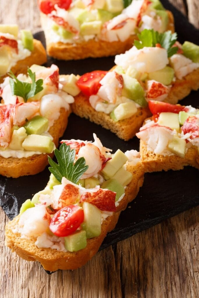 Lobster Sandwich with Tomatoes, Cream Cheese and Avocados