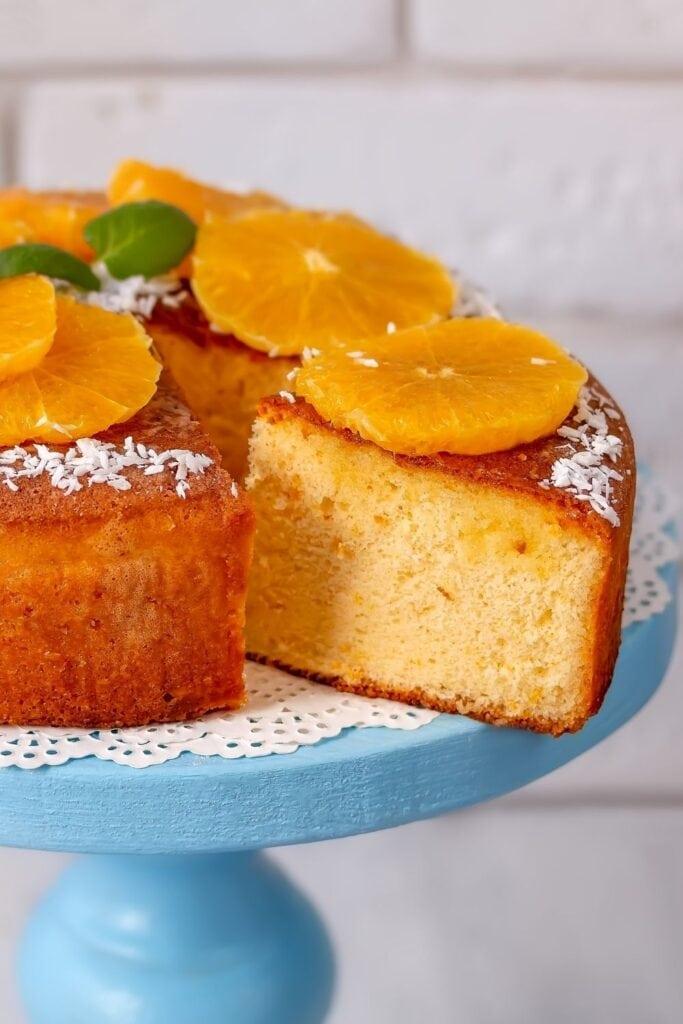 Orange Butter Cake with Fresh Oranges