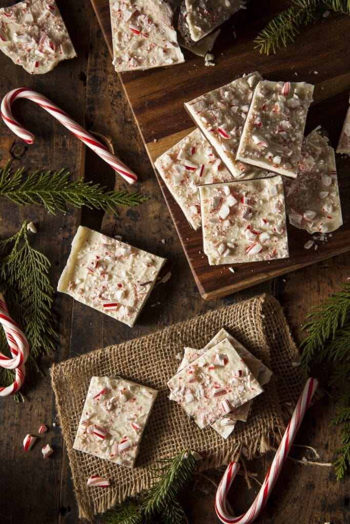 Peppermint Bark with White and Dark Chocolate