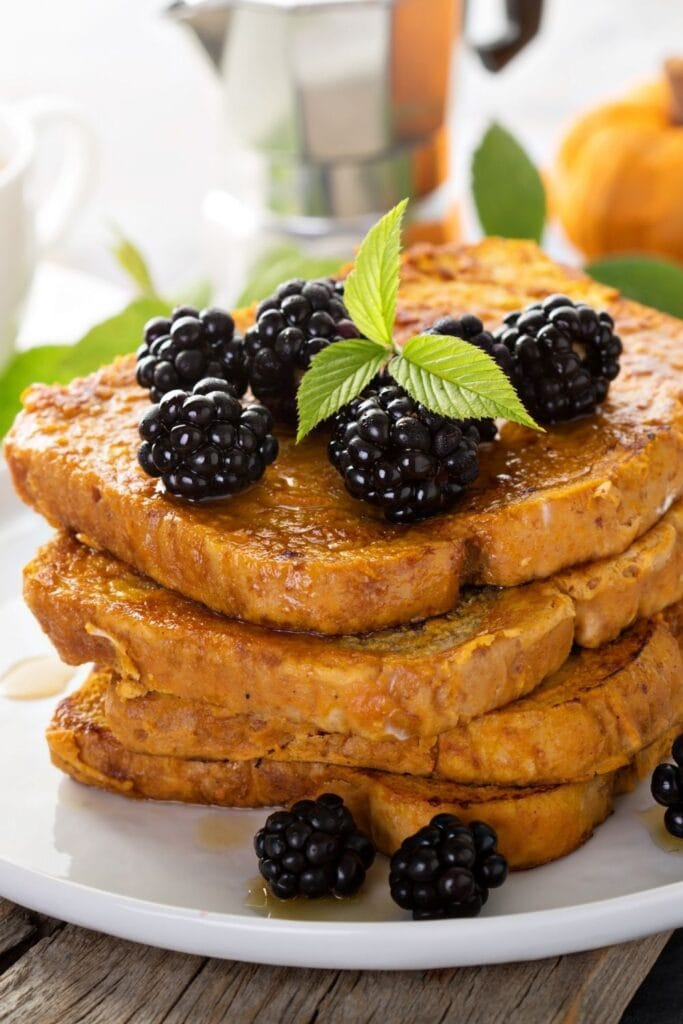 Pumpkin French Toast with Berries