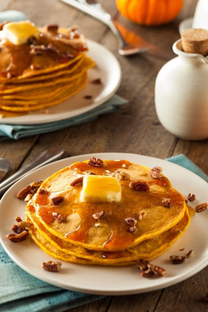 Pumpkin Pancake with Nuts and Butter