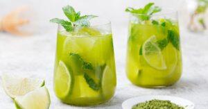 Refreshing Matcha Green Tea with Lime