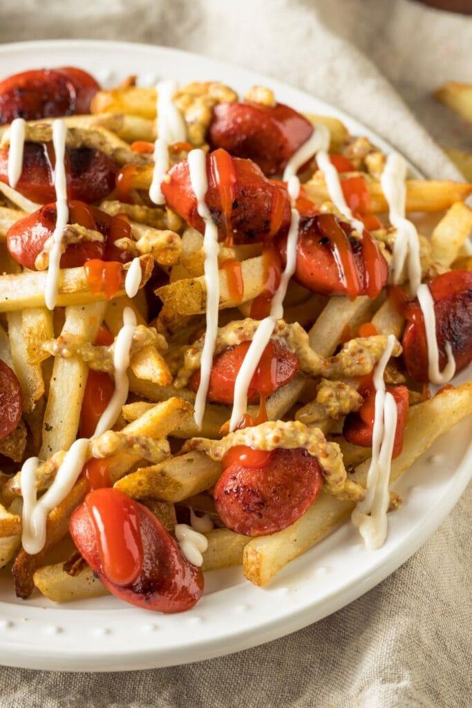 Salchipapa: Vienna Sausage with Fries and Mayo