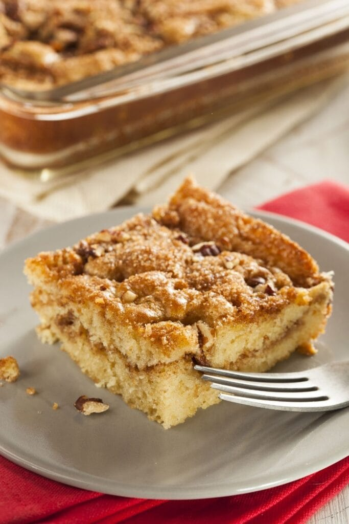 Snickerdoodle Coffee Cake in a Plate