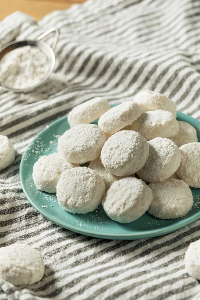 Soft and Buttery Italian Wedding Cookies with Powdered Sugar