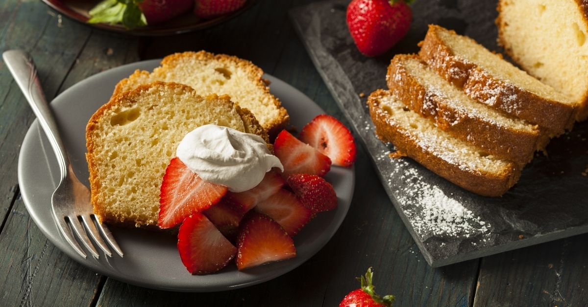 Strawberry Pound Cake with Whipped Cream